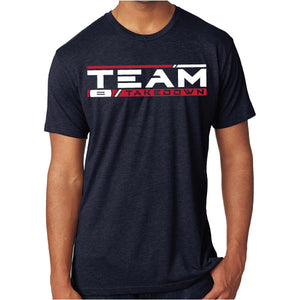 TEAM TAKEDOWN STREAMLINE TEE - NAVY