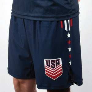 VINTAGE WRESTLING SHORTS (NAVY)