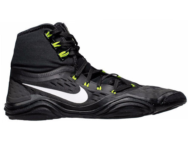 nike wrestling shoes black and grey