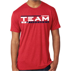 TEAM TAKEDOWN STREAMLINE TEE - RED
