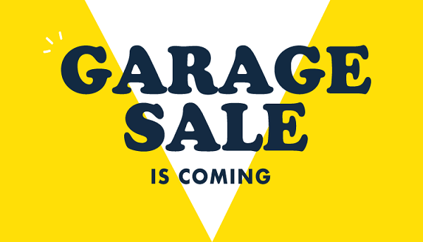 OUR PECKHAM GARAGE SALE IS BACK THIS SUMMER