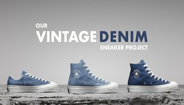 Sustainable News: The Vintage Denim Sneaker Project