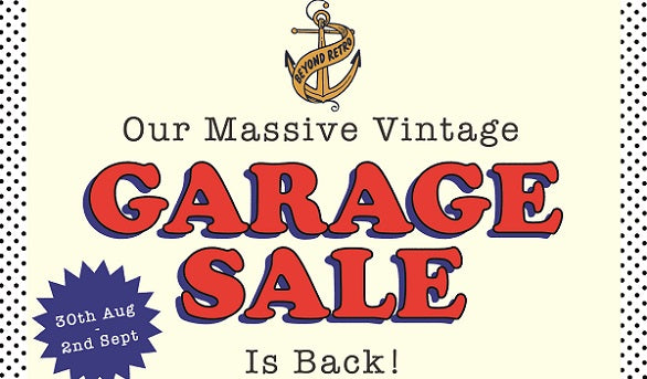 OUR MASSIVE GARAGE SALE RETURNS!