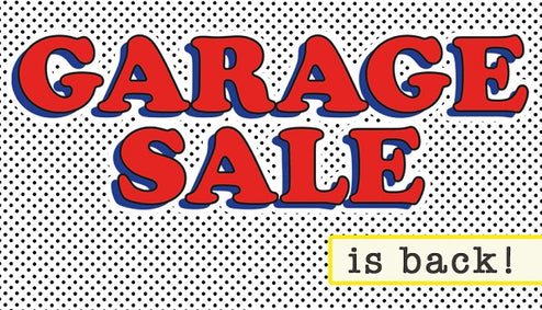 Get Ready For Our Garage Sale!