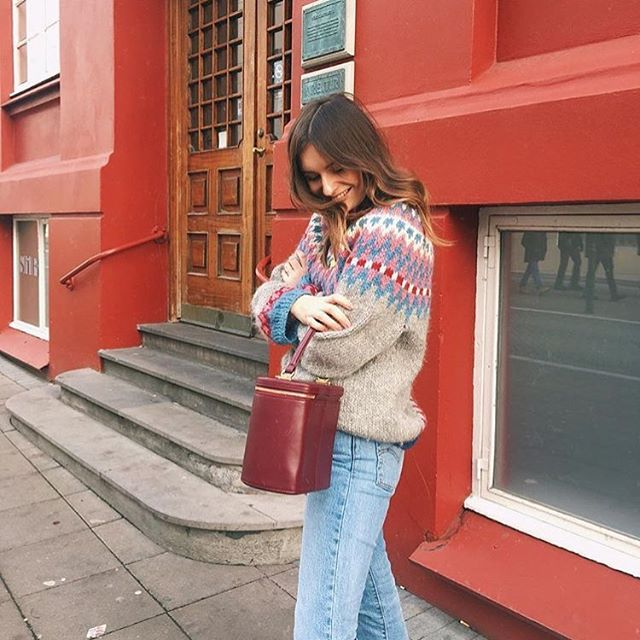 e22f44960d Blogger  livpurvis in one of our vintage Nordic Knits