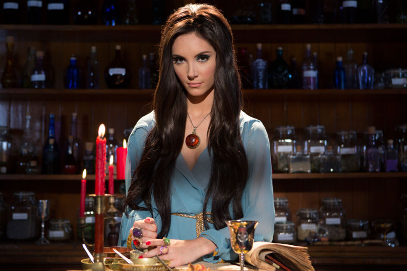 The Love Witch Spell Casting Blue Dress