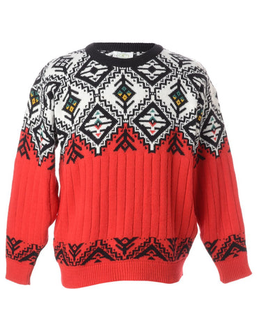 23074543460 The bolder the better when it comes to a non-traditional Nordic knit. Great  for everyday wear and enough to brighten up anyone s cold Monday morning.