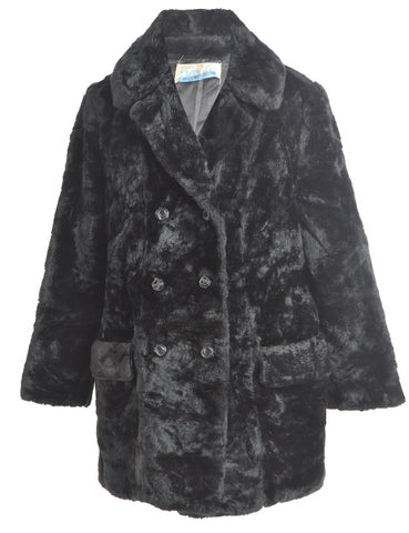 Beyond Retro 1980S DOUBLE BREASTED FAUX FUR COAT