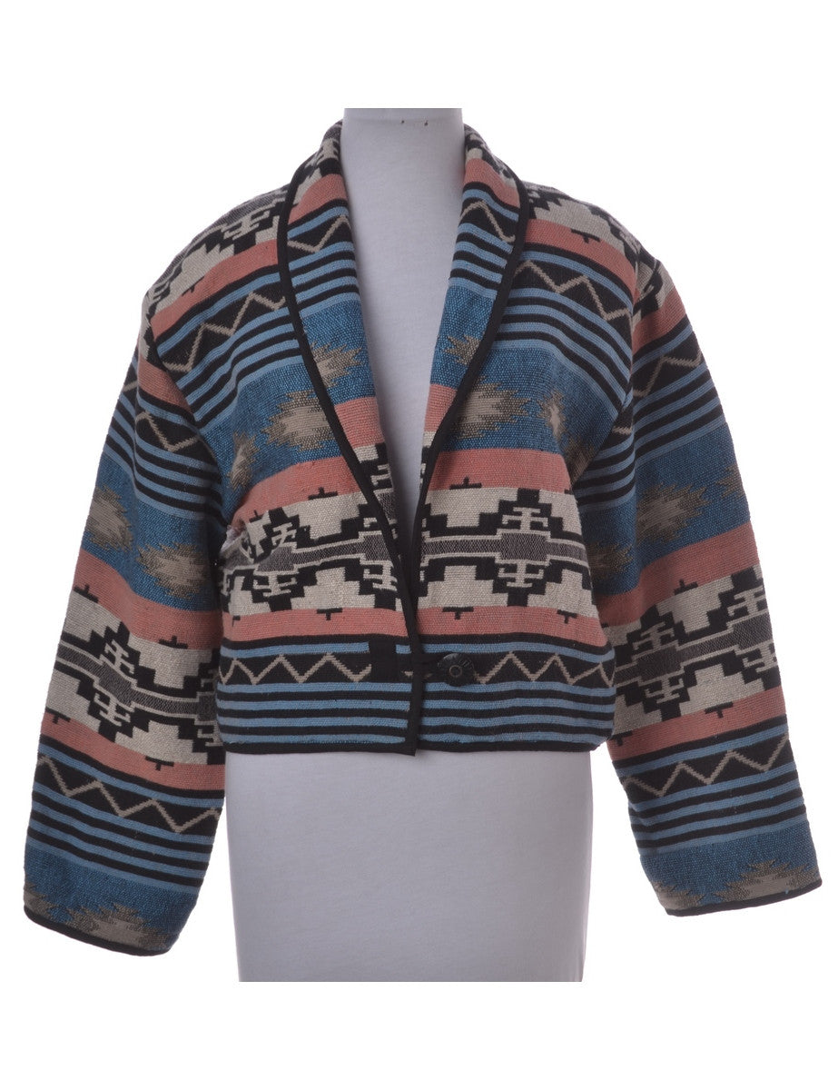 Casual Jacket Multi-colour With A Shawl Collar