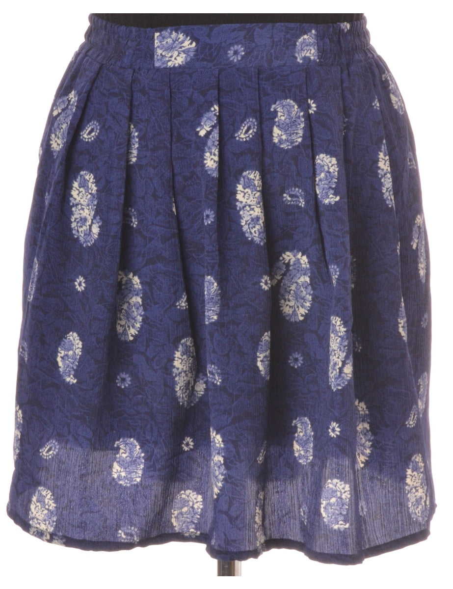 Beyond Retro Label Amy Short Skirt Navy With An Elasticized Back