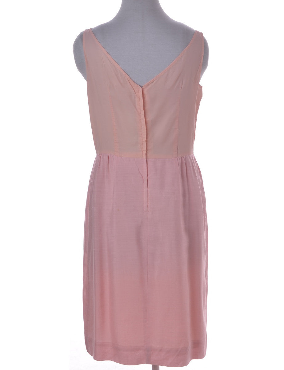 Vintage Day Dress Pastel Peach