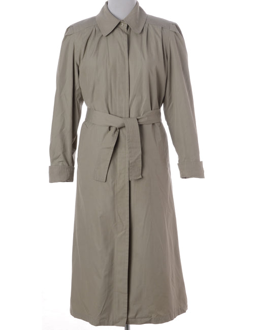 Vintage Trench Coat Beige With Pockets