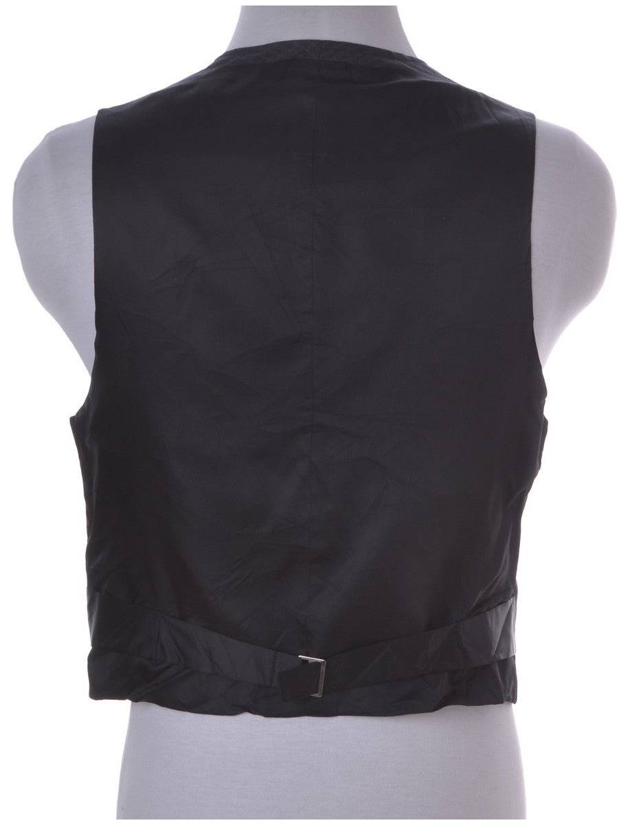 Waistcoat Black With A Belted Back