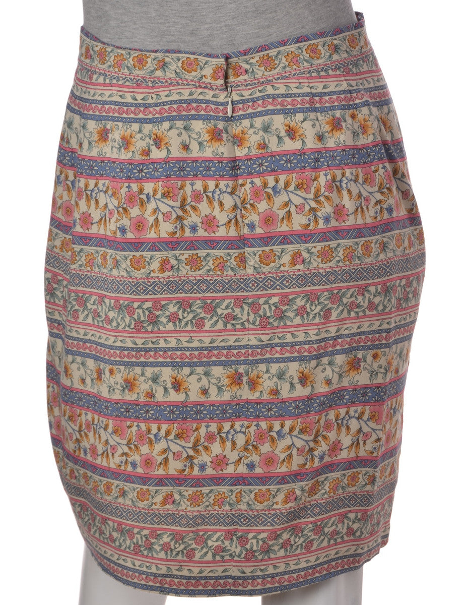 Mini Skirt Multi-colour With Full Lining