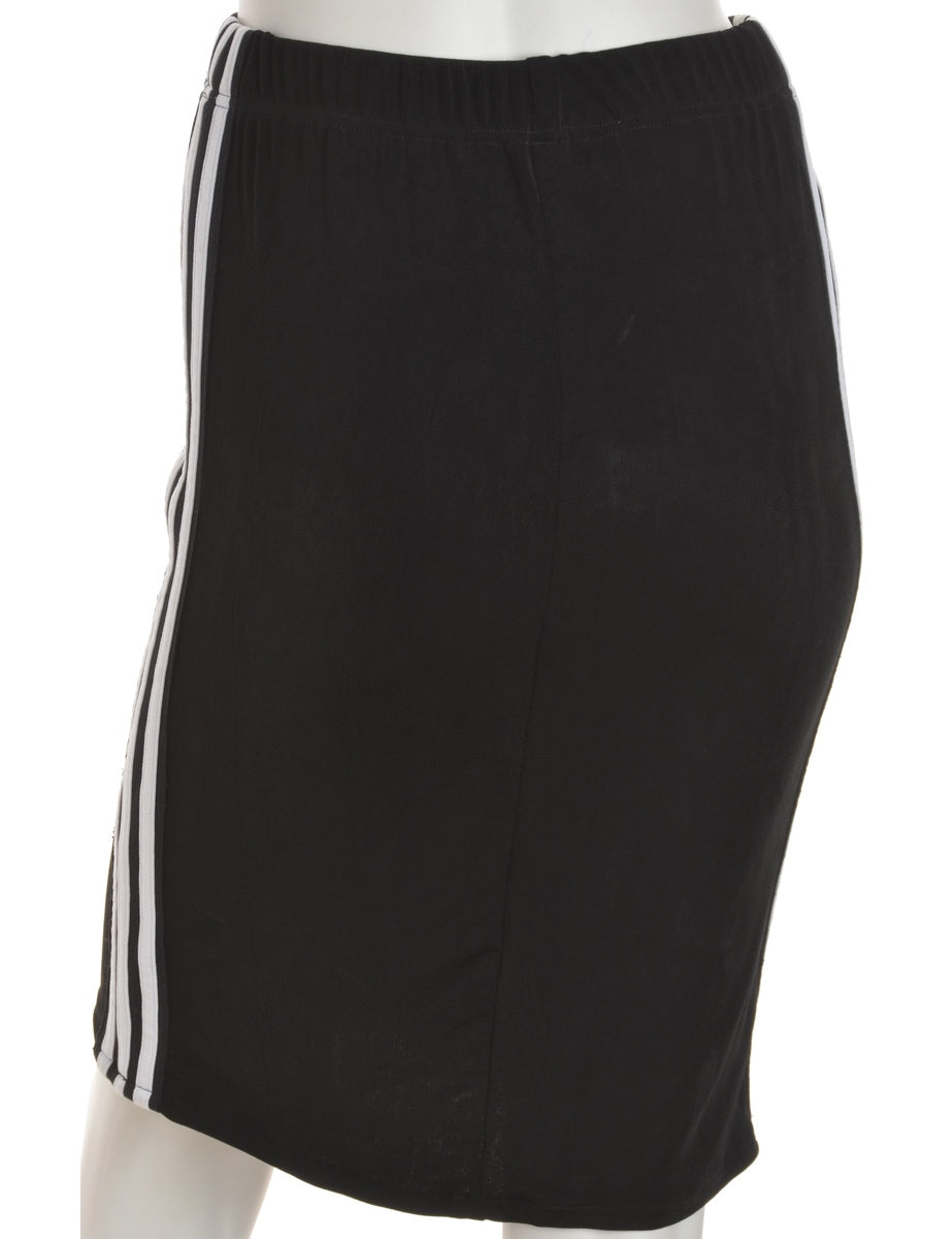 Beyond Retro Label Side Stripe Lycra Skirt