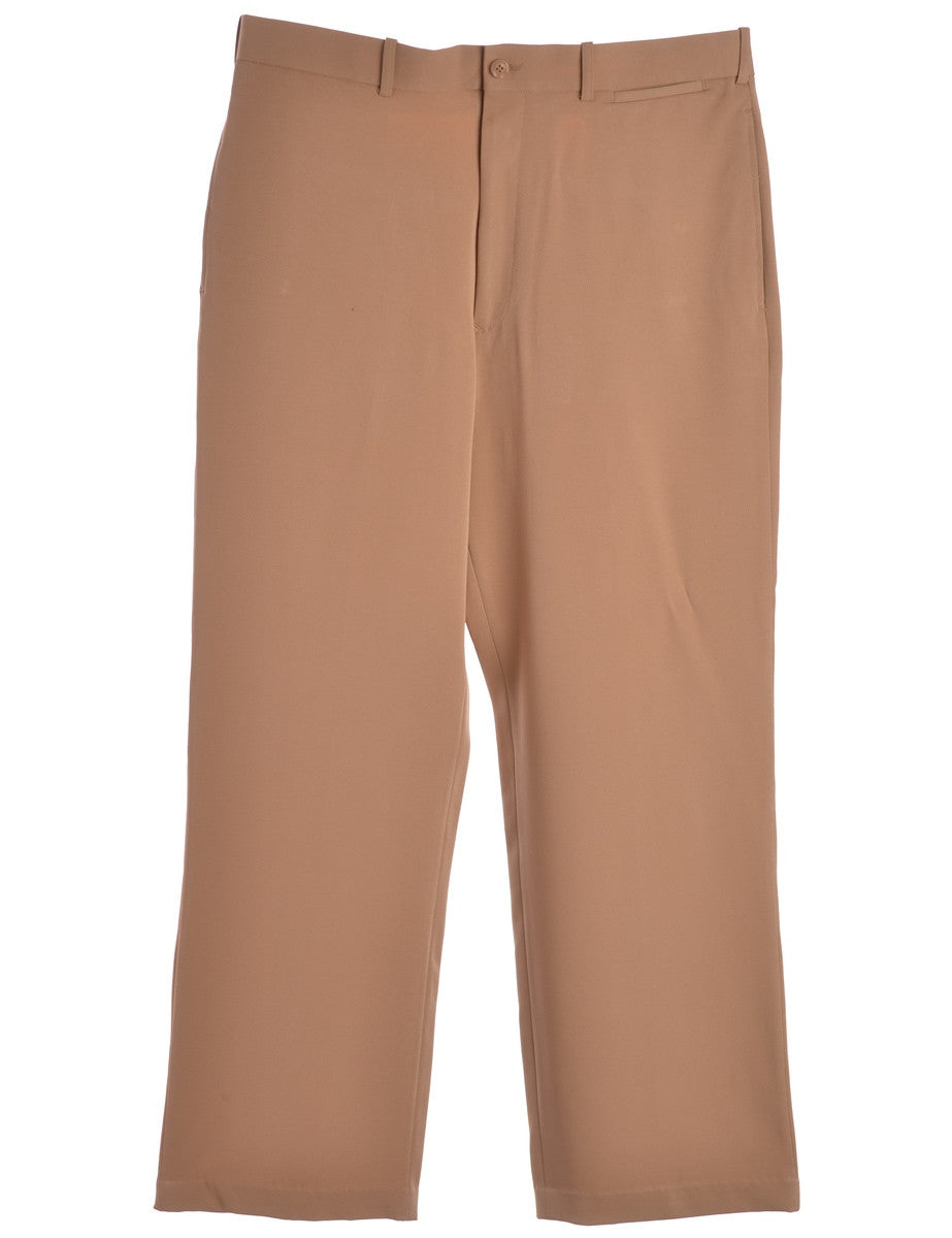 Vintage Smart Trousers Tan With Pockets