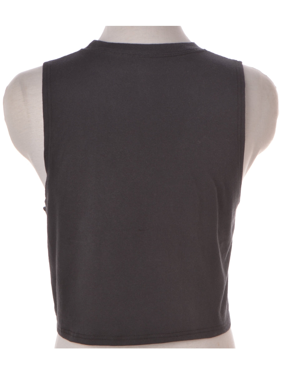 Label Black Crop Sports Vest