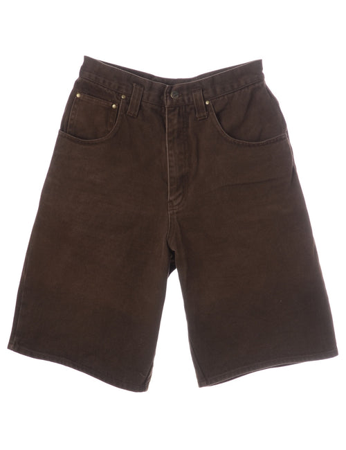 Denim Shorts Brown With Multiple Pockets