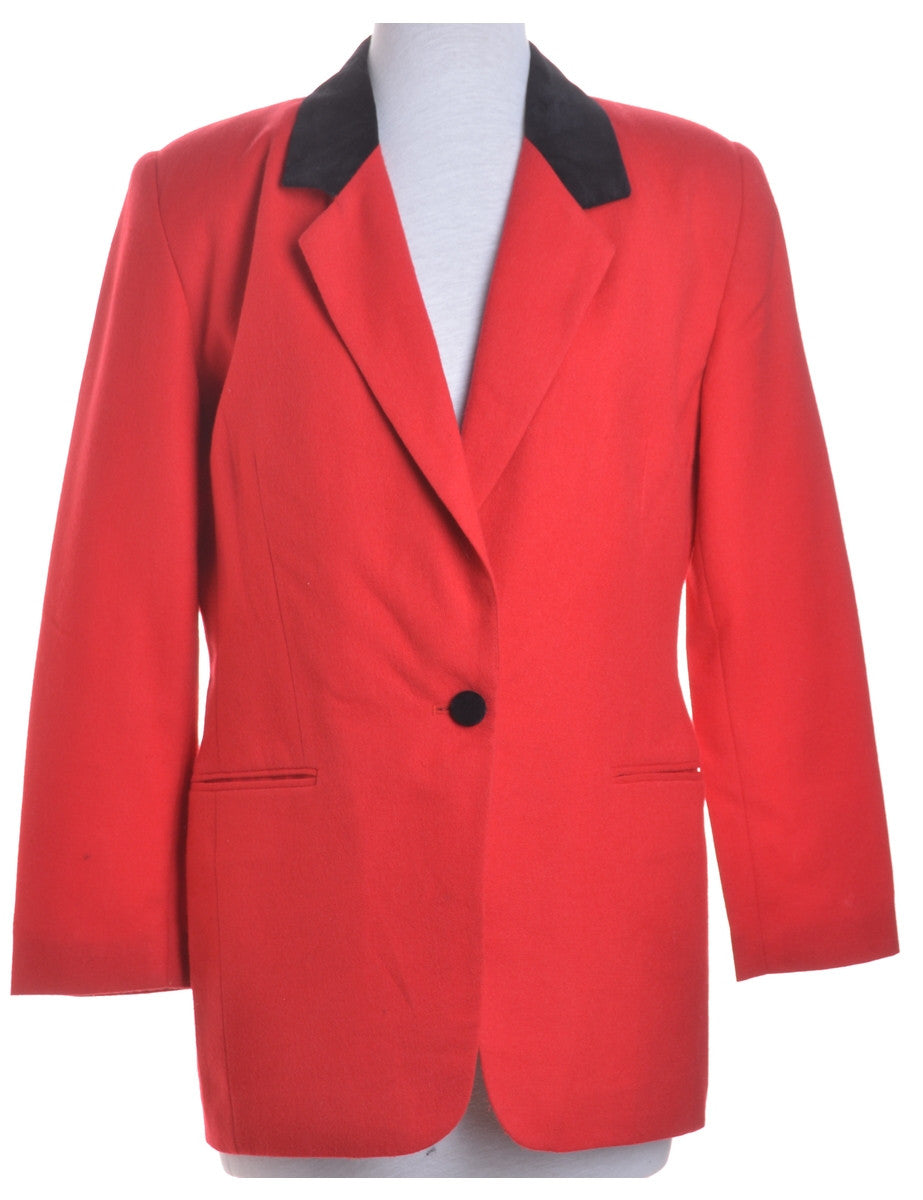 Blazer Red With Full Lining