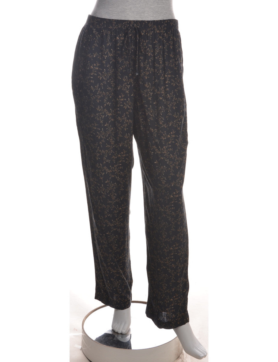 Summer Trousers Black With Two Pockets
