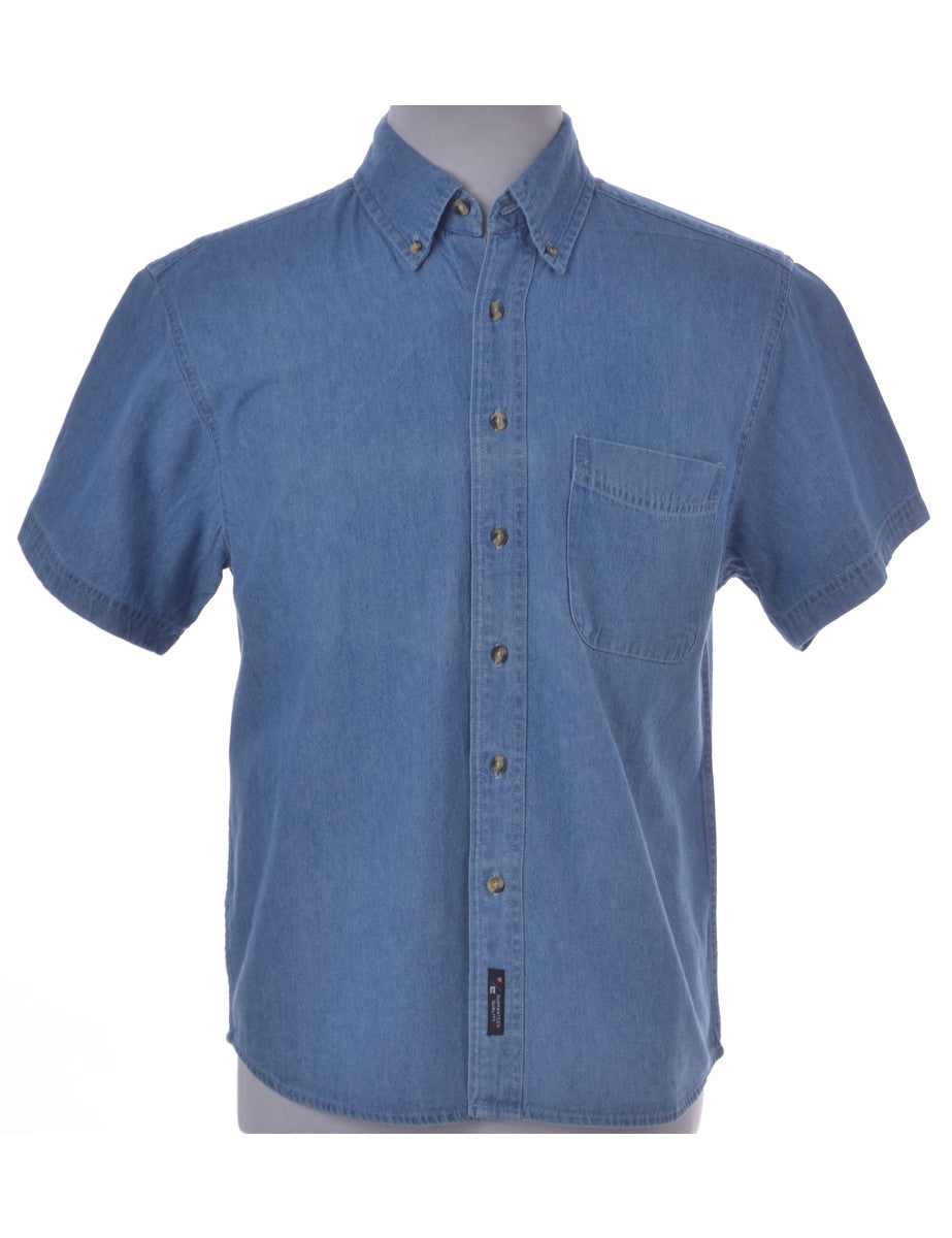 Denim Shirt Stone Wash With One Pocket