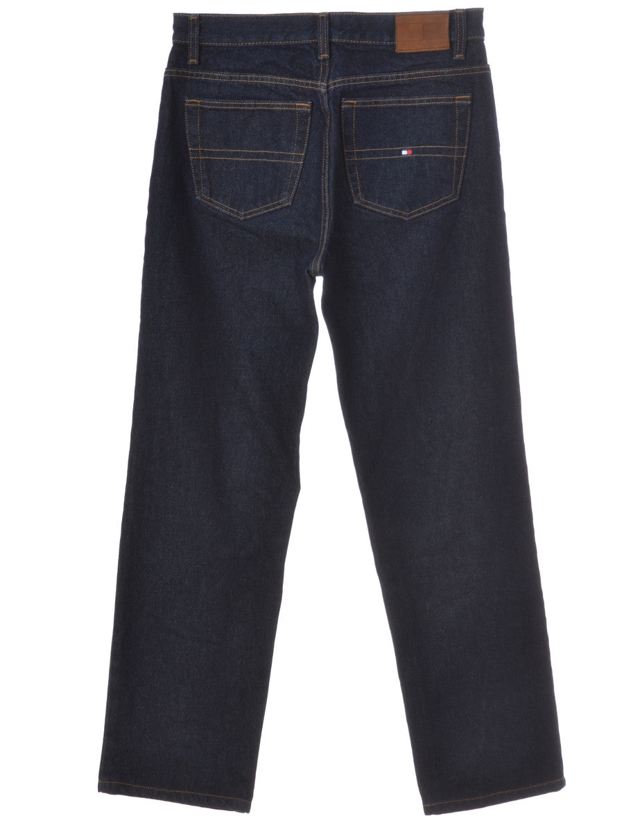 Beyond Retro Label Tapered Jeans Indigo With Zip Fly