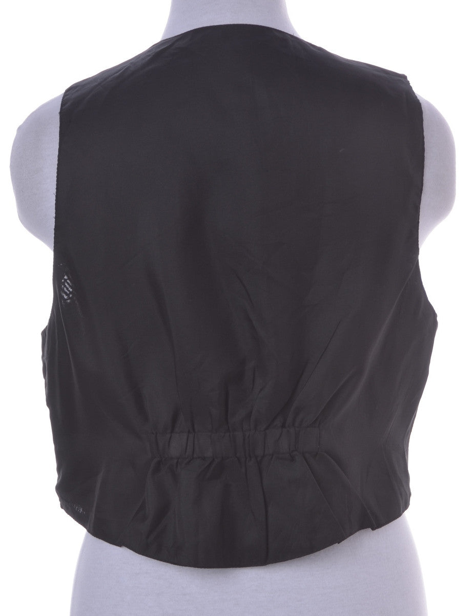 Waistcoat Brown With A V-neck