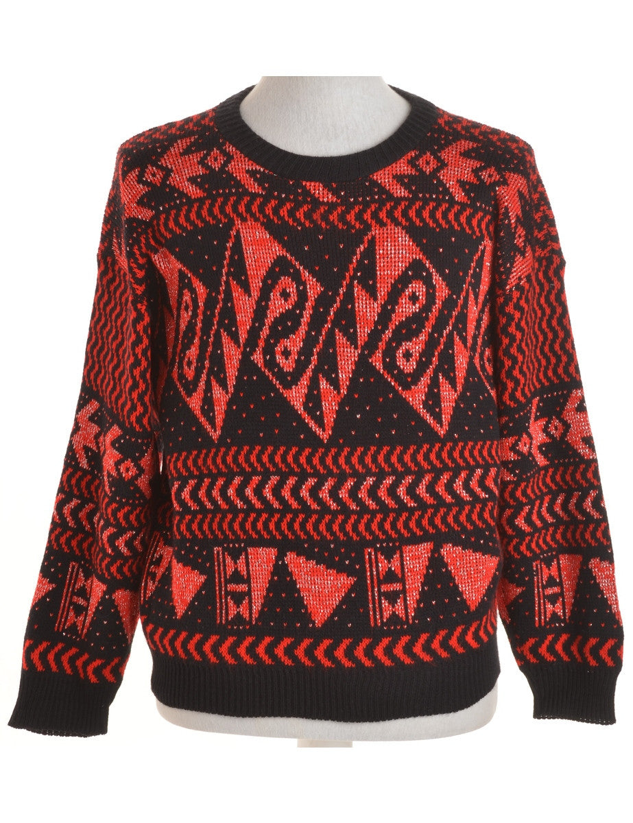 Jumper Red With A Crew Neck