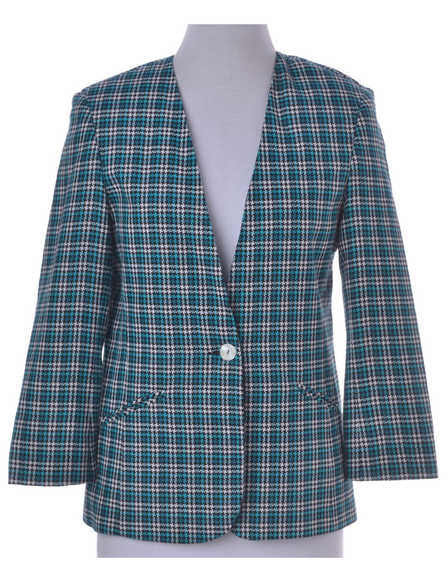 Blazer Turquoise With Full Lining