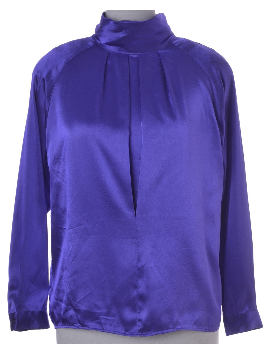 Casual Top Purple With Removable Shoulder Pads