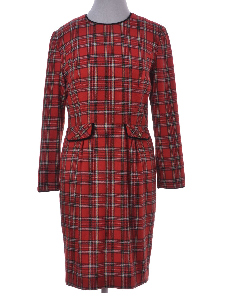Winter Dress Red With Full Lining