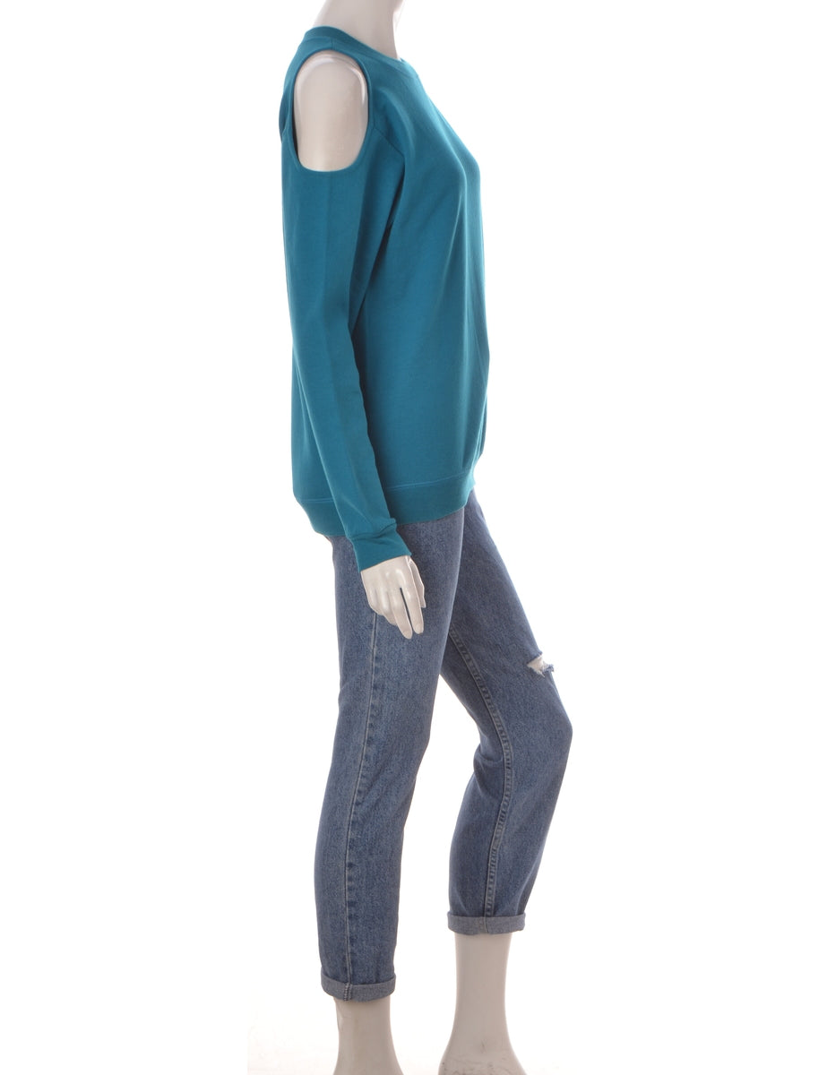 Label Turquoise Cold Shoulder Sweatshirt