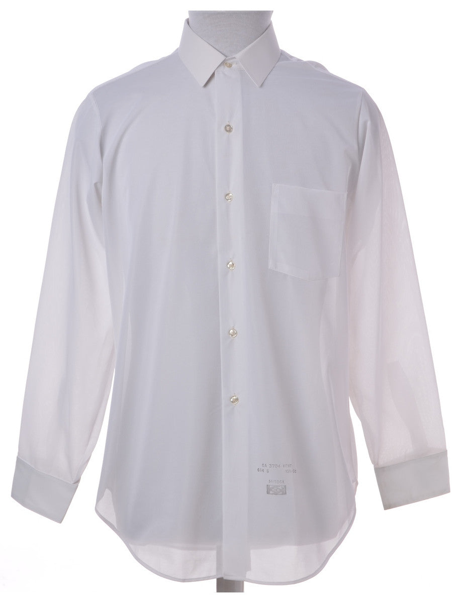 Vintage Casual Shirt White With One Pocket