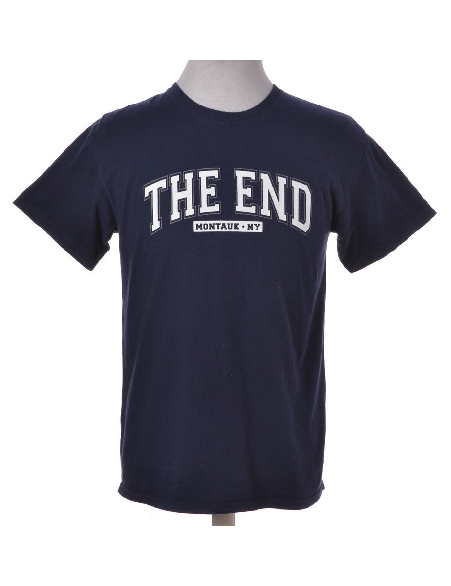 Printed T-shirt Navy