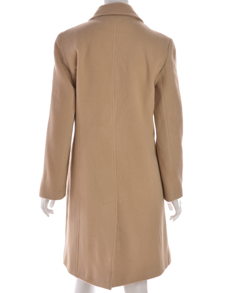 Wool Coat Light Brown With Full Lining