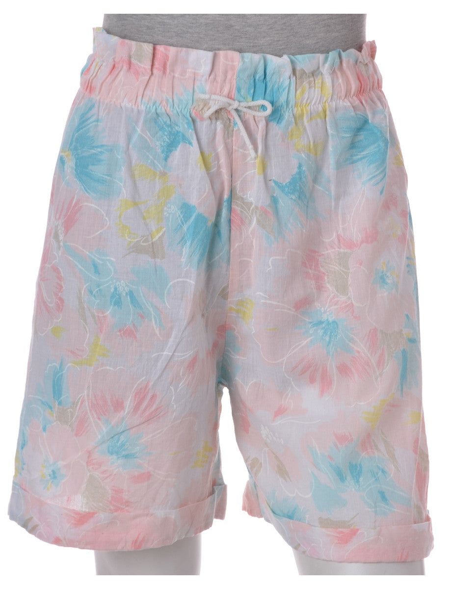 Casual Shorts Pale Pink With A Drawstring Waist