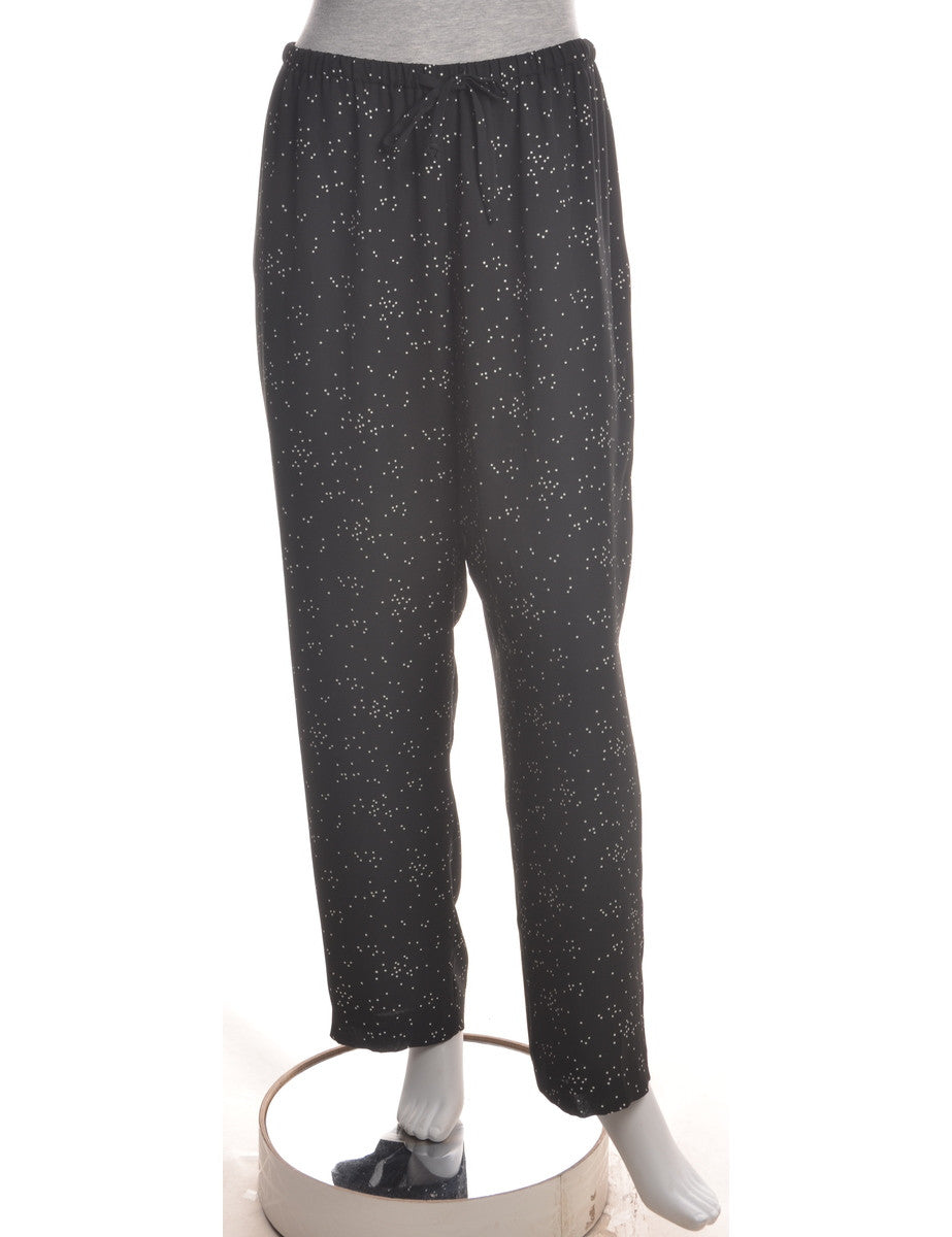 Summer Trousers Black With Full Lining