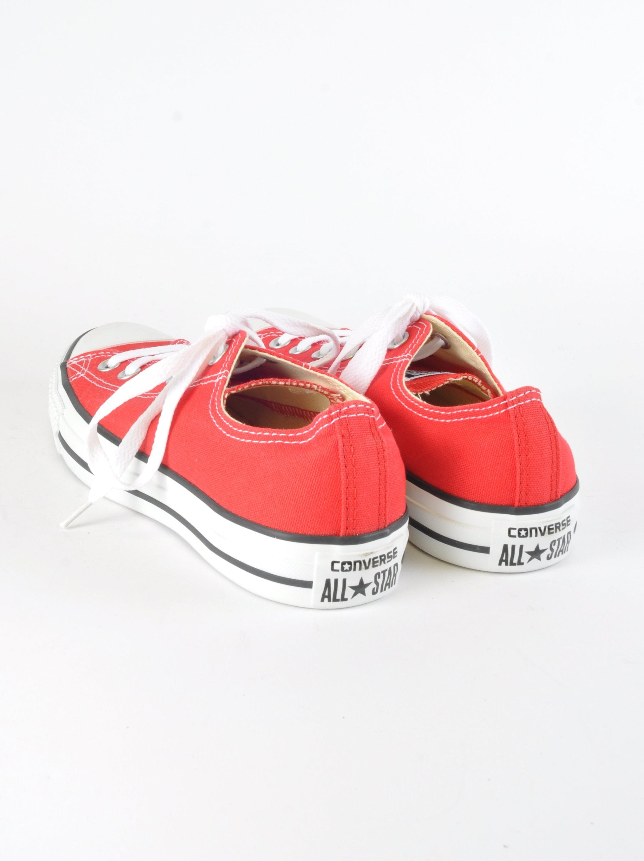 Red Classic Low Converse - New But Imperfect