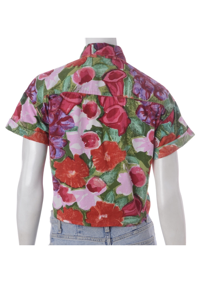 Label Nancy Ladies Hawaiian Tie Front Shirt