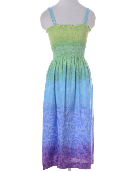 Vintage Summer Dress Multi-colour With Sequins