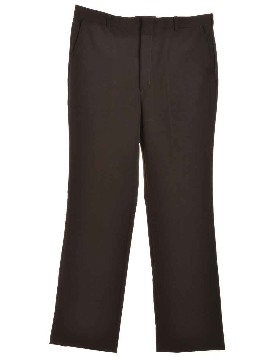Smart Trousers Dark Brown With Pockets