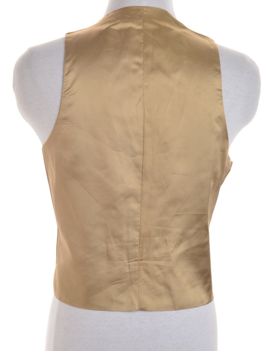 Waistcoat Light Brown With A Belted Back