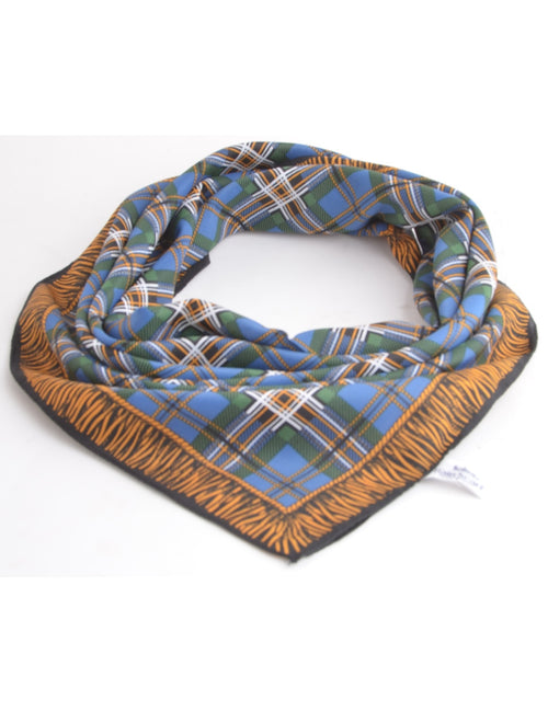 Silk Scarf Multi-colour With A Hand Rolled Hem