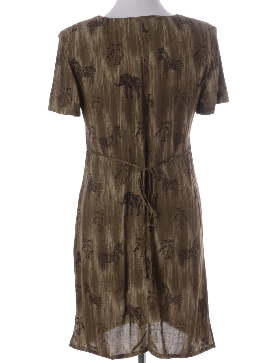 Label Roxy Zip Front Animal Print Dress