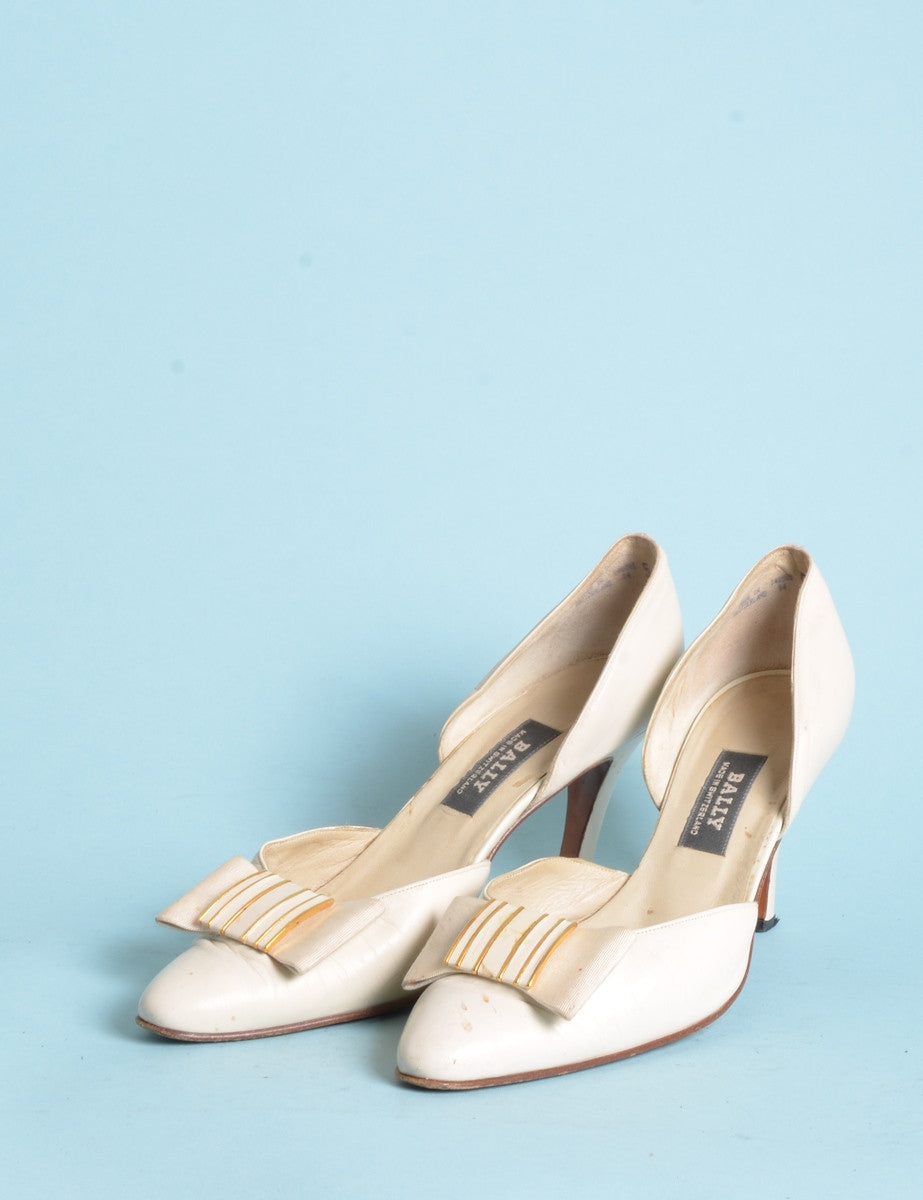 Vintage Heels Off White With High Heels