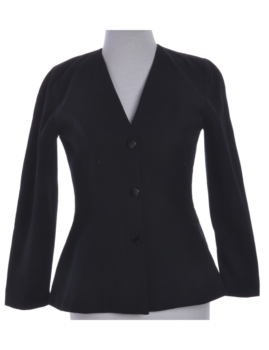 Casual Jacket Black With A V-neck