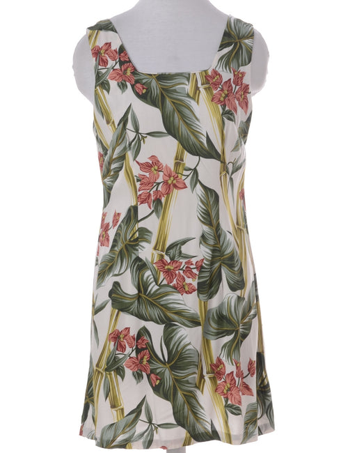 Vintage Summer Dress Green With A Square Neck