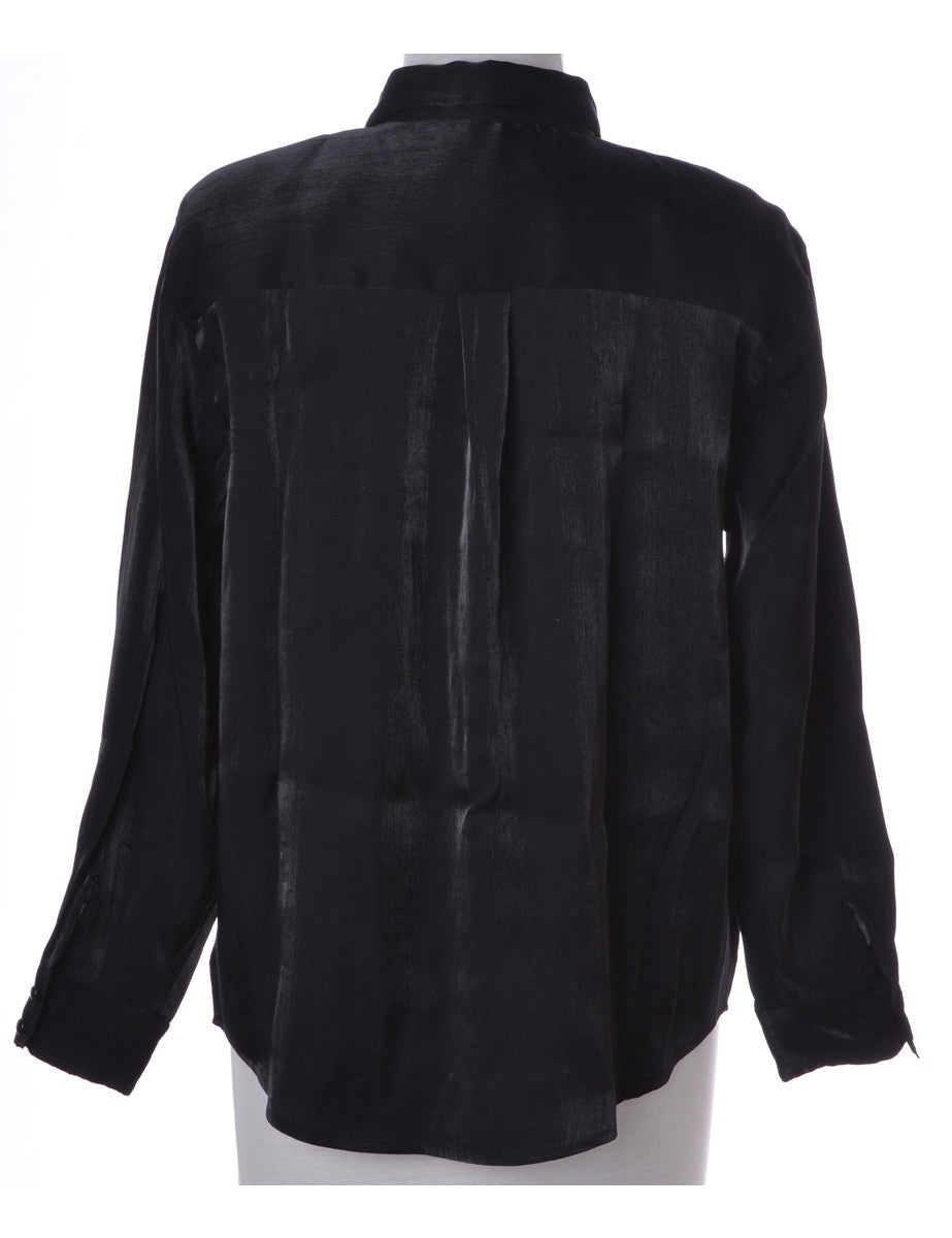 Shirt Black With Removable Shoulder Pads