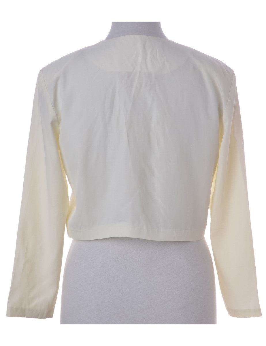 Vintage Blouse Off White With Beading