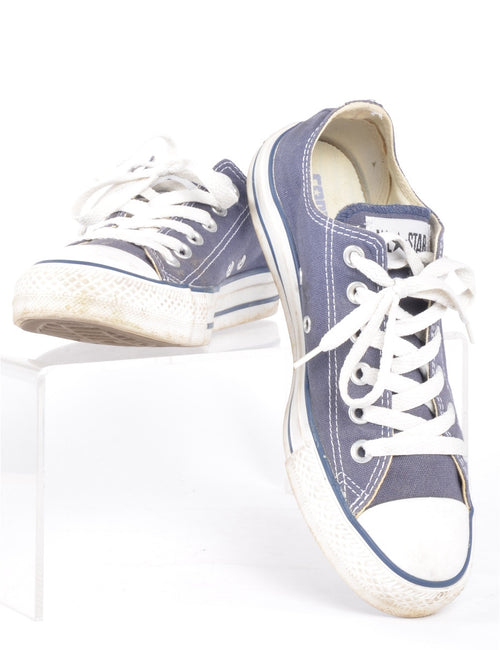 Trainers Mid Wash Blue With Rubber Toe Cap
